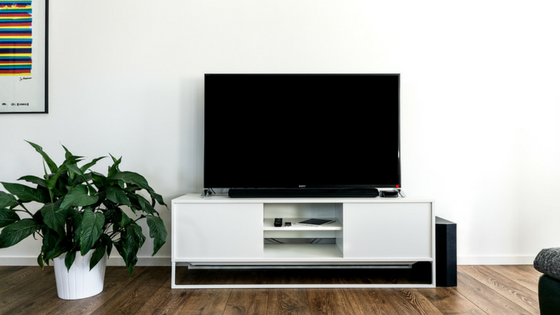 tv entertainment system in a home